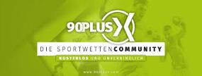 90 plus X Logo