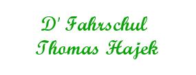 D' Fahrschule Thomas Hajek Logo